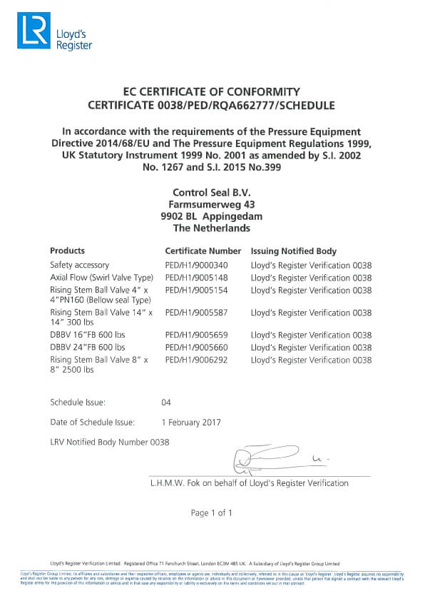 H1 certificate page 2